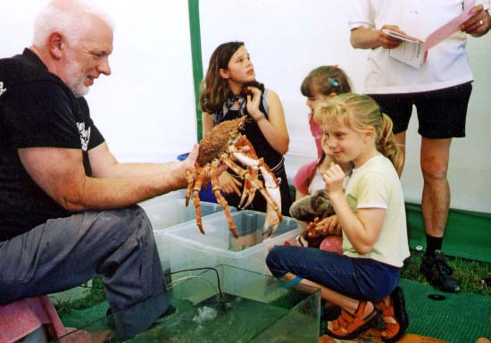 Len Nevell at Adur World Oceans Day 2002  (Photograph by Duncan Morrison)
