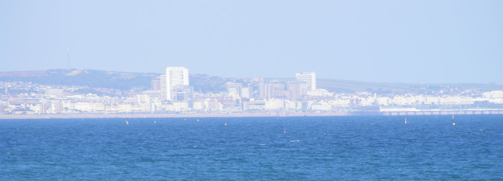 View of Brighton from Shoreham Beach