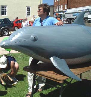 Artificial Life-sized Bottle-nosed Dolphin at Adur World Oceans Day
