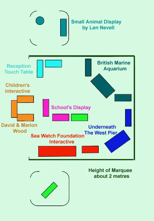 Marquee Display Plan for Adur World Oceans Day