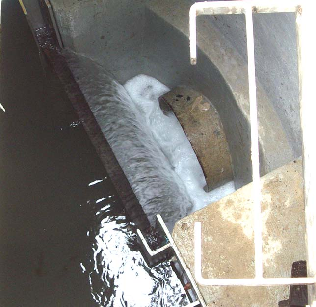 Looking down into the internal weir (Photograph by Andy Horton)