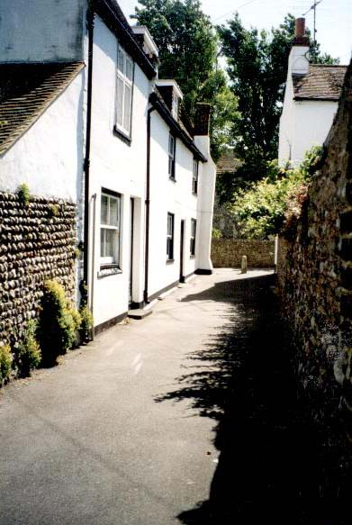 A narrow thoroughfare is called a TWITTEN in Sussex