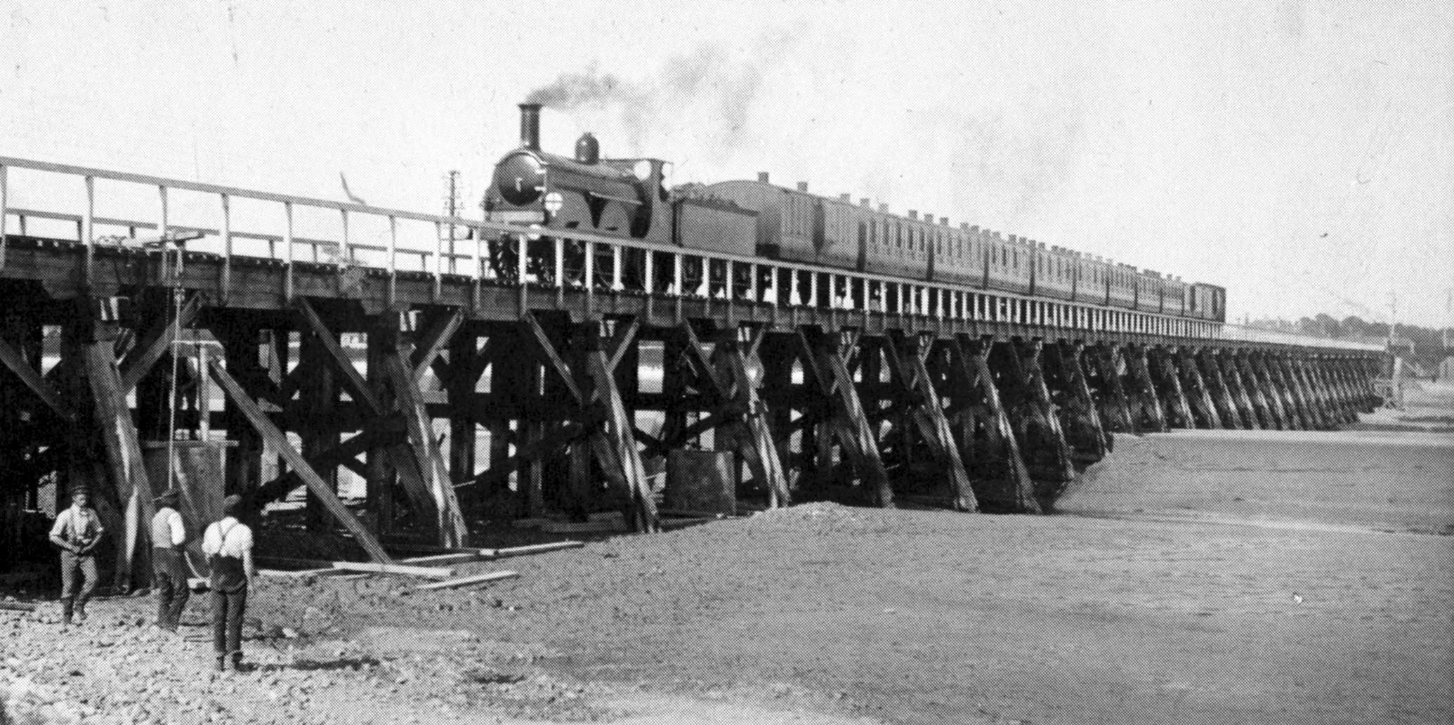 Wooden Trestle Bridge