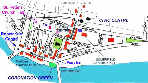 ShorehambySea Detailed Town Map